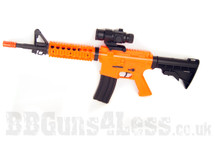 Well D99  Electric BB gun with Adjustable Stock in Orange/Black