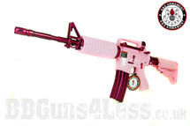 G&G Armament Femme Fatale 16 Electric Rifle in Pink/Purple