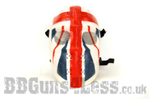 BB gun Union Jack Airsoft Mask in skull Jason style