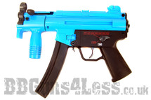 Galaxy G5K Electric Rifle with hi cap magazine in Blue