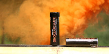 Enola Gaye Wire Pull Smoke grenade in orange