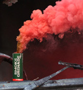Enola Gaye Large Red Smoke Grenade