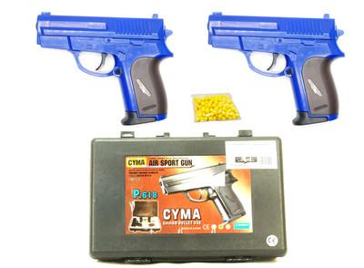CYMA P618B Twin Pack with BB gun Pistol Case