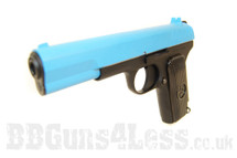 SRC SR 33 Full Metal Gas Blow Back Pistol Full metal in blue