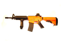 Well R24P M4 fully auto Airsoft gun in orange