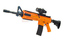 Well D2810 Electric Airsoft Gun with mock Scope in Orange