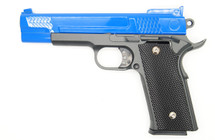Galaxy G20 Full Scale M945 Pistol in Full Metal in Blue