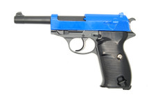 Galaxy G21 Full Metal Walther P38 BBGun in Blue
