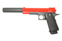 Galaxy G6A M1911 Full Metal Pistol in red