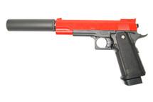 Galaxy G6A M1911 Full Metal Pistol in red