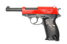 Galaxy G21 Full Metal Walther P38 bbgun in red