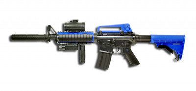 Double Eagle M83 A2 Electric BB Gun in Blue