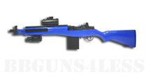 Double Eagle M806A1 Electric bb gun with Mock Red Dot Sight in blue