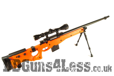 WELL MB4403D Airsoft Spring Sniper rifle with scope & bipod in orange