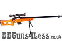 WELL MB4409 Airsoft Spring Sniper rifle with scope & bipod in orange