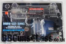 Cybergun Battery Powered Mini Uzi in Clear