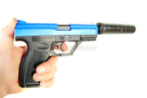 HFC HA128 spring Pistol with silencer blue