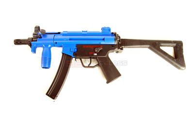 Galaxy G5 with folding stock and Metal Gearbox in blue
