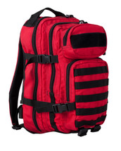 Small Assault Backpack Rucksack 28 Lt in red and black