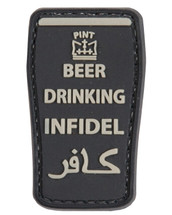 Tactical Patch Beer Drinking Infidel Patch in Black