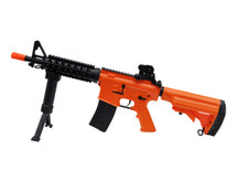 Golden Eagle M4 Two Tone Electric Rifle with Bipod in Orange/Black