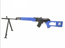 JG Works A47 03 AK style Electric sniper Rifle with Bipod in Blue