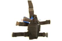 Drop tactical leg holster in Black