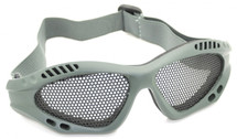 US Army Style Small Mesh Anti Fog Goggles in Green
