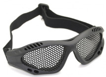 US Army Style Small Mesh Anti Fog Goggles in Black