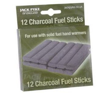 Jack Pyke 12 x Charcoal Fuel Sticks for Hand Warmer