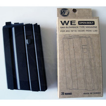 WE Open bolt 20rd Gas Blowback type magazine for M4/M16/SCAR/ PDW/L85