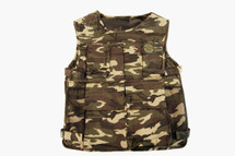 WellFire Tactical Vest with padding and 6 pockets in dpm camo