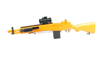 Double Eagle M305 Spring Powered Rifle with scope in orange