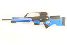 JG Works G36 Airsoft Electric rifle includes Metal Bipod / Built-in Scope in Blue