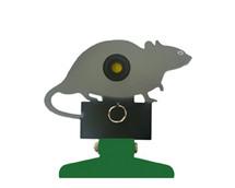 Free standing knockdown rat metal target