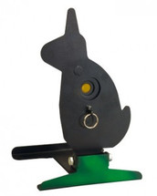 Free standing knockdown rabbit metal target