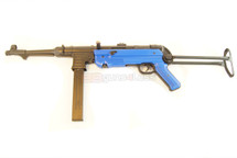 AGM MP40 Airsoft Rifle in Full Metal with Folding Metal Stock in blue