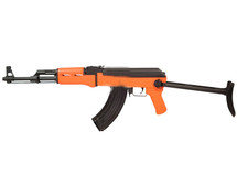 SRC AK47C Two Tone Electric Rifle with foldable stock in orange/black