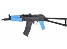 SRC SR74 Two Tone GBB Rifle with foldable stock in blue/black