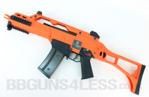 WE Tech M4A1 Airsoft Gas Powered Rifle in orange