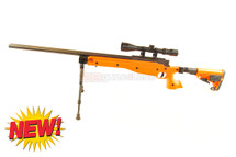 Well MB14 Spiring Sniper Rifle with scope & bipod in orange (new)