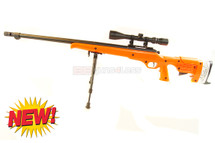 Well MB12 Spiring Sniper Rifle with scope & bipod in orange (new)