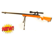 Well MB07 Spiring Sniper Rifle with scope & bipod in orange (new)