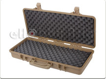 Airsoft gun carry case in Tough plastic mid size in Tan