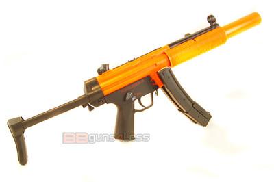 Well HK MP5 SD5 BB Gun with adjustable stock in orange