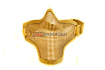 Iron Face Lower Mesh Airsoft Mask Lower Face in Desert Tan