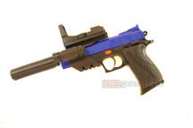 Vigor 2122-b2 Spring Pistol with Light & Silencer in blue