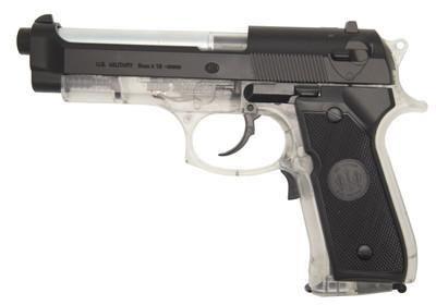 blackviper m92F electric blowback pistol in clear/black