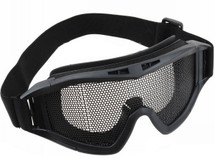 US Army Style Style Big Mesh Anti Fog Goggles in black