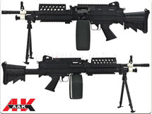 A&K MK46 Airsoft AEG with Retractable Stock and Bipod in Black